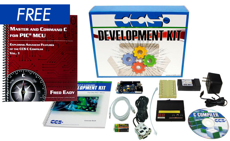 Free Book with PIC18F45K22 Development Kit