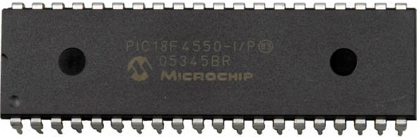 PIC18F4550 Reprogrammable Dip Chip