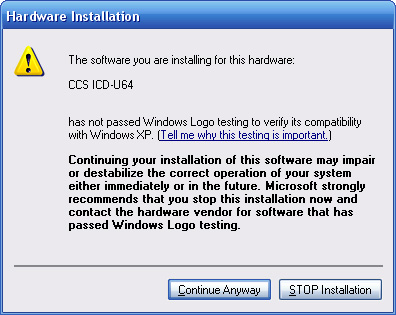 Windows XP - Security Warning
