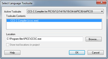MCU MPLAB IDE Select Toolsuite