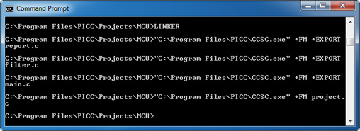MCU LINKER Command-Line