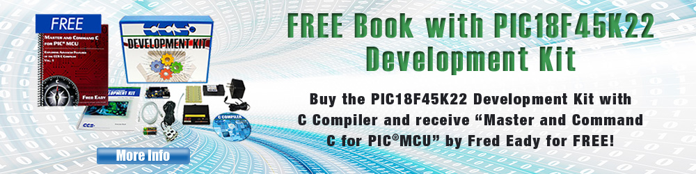 FREE Book with PIC18F45K22 Development Kit: S-148