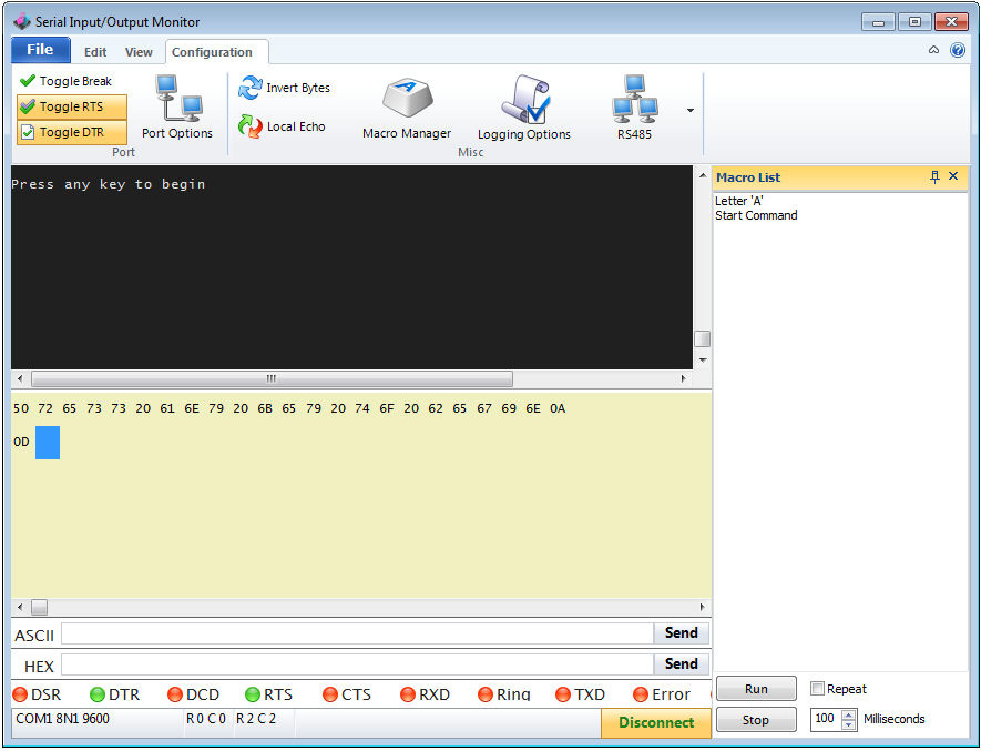 CCS Serial Port Monitor Software