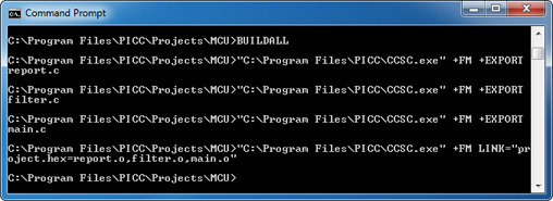 MCU BUILDALL Command-Line